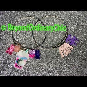 Jewelry - Purple & Pink Sweets Silver bangle set